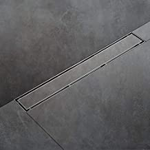 SaniteModar 24 inch Linear Shower Drain comes with Tiled Stealth and 304 Stainless Steel Brushed Polished 2 in 1 Panels.Tile Insert Shower Drain is Equipped Adjustable Feet,Hair Filters
