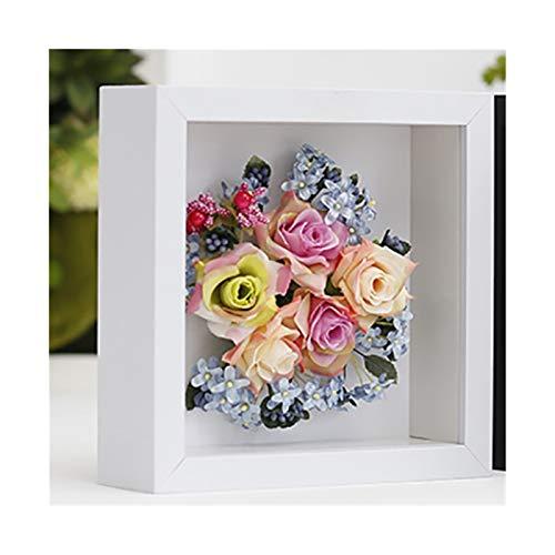 KOLOSM Bilderrahmen Hölzerne Schatten-Kasten-Tiefe 5cm für Blumen, handgemachte Kunsthandwerk, Pflanze, Muschel-Dispaly, Rahmenbox für Erinnerungskasten für Erinnerungskasten