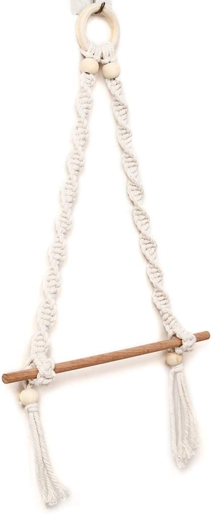 BMBN Towel Hanger Nordic Macrame Wall Stick San Diego Mall Manufacturer OFFicial shop Wooden Toil Hanging