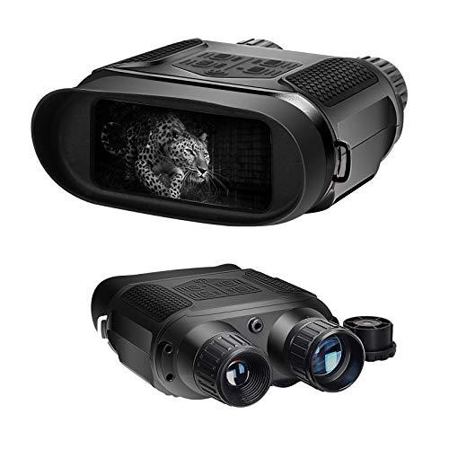 GOSKY Jumelles de Vision Nocturne numérique pour Le Jour et l'obscurité à 100% - 3 Niveaux réglables IR - Grand écran de 4 po - Portée de Vision de 400 m - Appareil Parfait pour des scènes Multiples