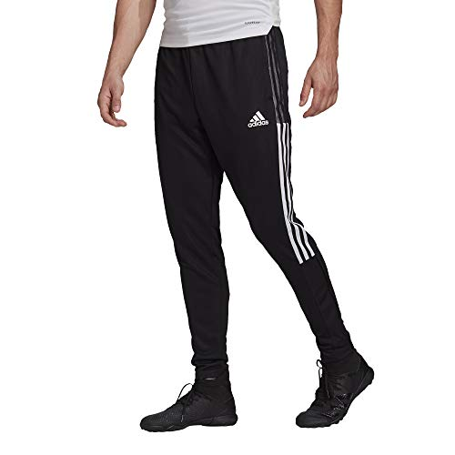 adidas mens Tiro 21 Track Pants Black/White Medium