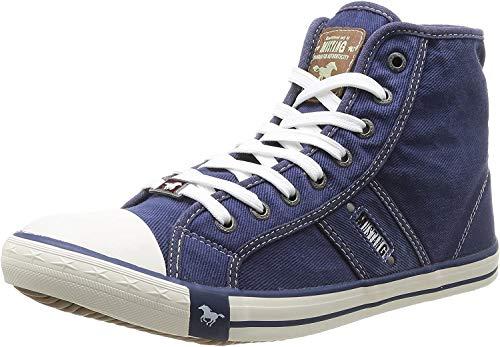MUSTANG Herren 4058-504 Hohe Sneaker, Blau (841 Jeansblau), 42 EU