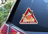 Pegatina Vinilo Bebe a Bordo, Baby on Board. Adhesivo vinilo para coche. (Personalizado)