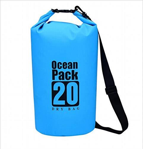 Akamas, borsa impermeabile, borsa per il nuoto, borsa da viaggio, spiaggia, immersioni, zaino impermeabile (1 pezzo, blu).