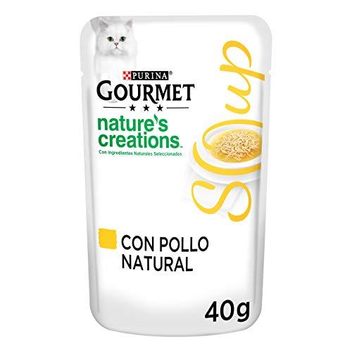 Purina Gourmet Crystal Soup comida para gatos con Pollo Natural y Verduras 32 x 40 g