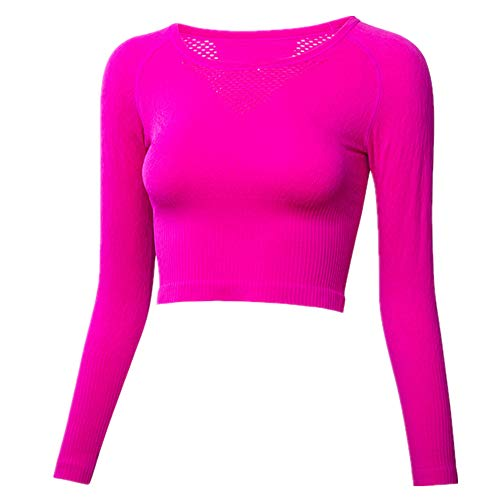 Mallas deportivas para mujer, delgadas, de manga larga, para fitness, de secado rápido, para yoga