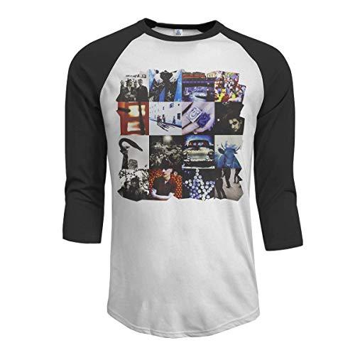 Pillowcase Wholesale MarshallD U2 Achtung Baby Camiseta Raglan con diseño de Beisbol para Hombre, Negro M