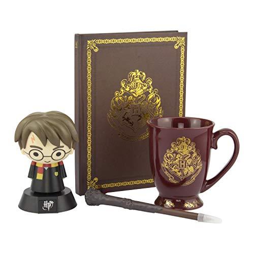 Paladone AMZ6284HP Set de regalo   Producto oficial de Harry Potter   Luz de icono, taza y cuaderno Hogwarts, multi
