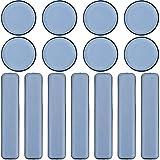 16 pezzi Set di pattini slittanti per spostare mobili Teflon autoadesivo Scivoli per Sedia per Spostare Mobili Pesanti Piazza Cursori di Mobili set Di Quadrato Tondo