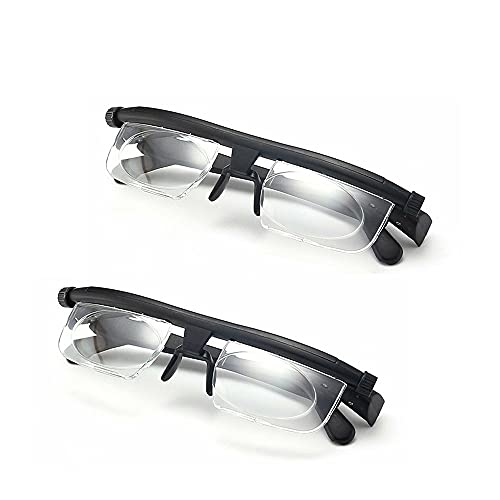 QAIYXM 2pack Reading Glasses, -3 to +6 Diopter Adjustable Focal Length Reading Glasses Adjustable Reading Glasses Myopia Eyeglasses, for Working, Driving