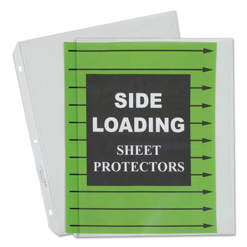 Side Loading Polypropylene Sheet Protector, Clear, 11 x 8 1/2, 50/BX, Sold as 1 Box, 50 Each per Box