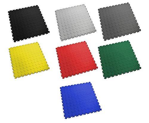 Fortelock PVC-Vinyl Bodenfliese Easyclick Noppen Mittlere Belastbarkeit 2080 (Graphit)