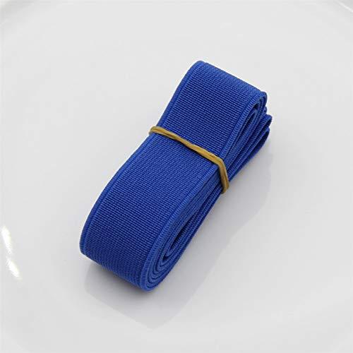 Tings 1 meterkleurrijke elastische band Spendex nylon singels Kledingstuk Broeken Jurk KantversieringKleding Naai-accessoires, donkerblauw, breedte 20 mm
