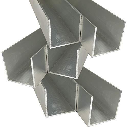 Alu U-Profil 40 x 40 x 40 x 2,0 mm Aluminium AlMgSi0,5 U-Stab Profil Aluprofil U-Stange (200 cm)