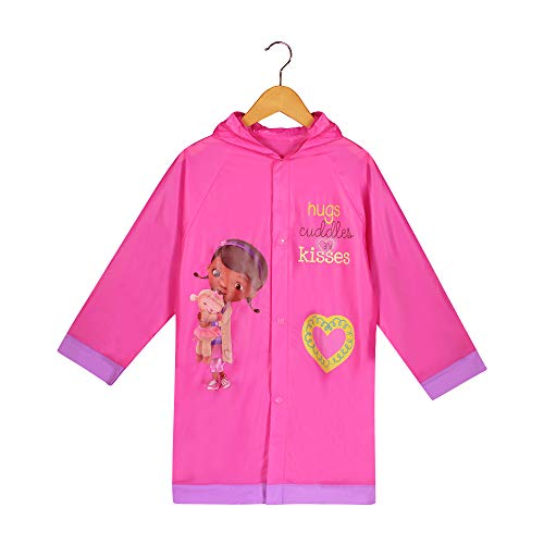 Doc McStuffins Girls Pink Rain Slicker Raincoat (M(4/5))