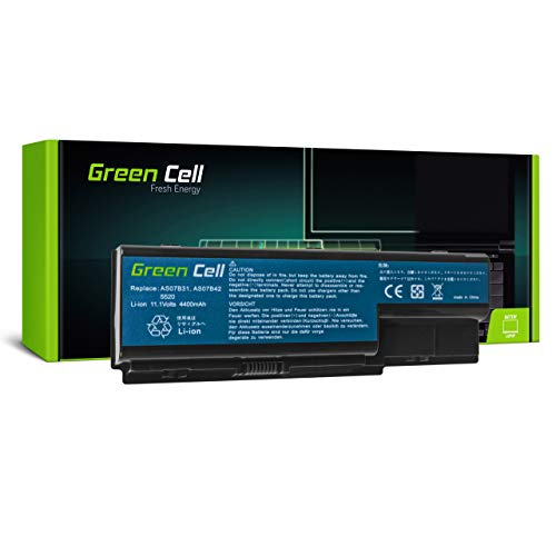 Green Cell Battery for Acer Aspire 5315-101G12MI 5315-200508MI 5315-201G08MI 5315-201G12MI 5315-2122 5315-2153 5315-2326 5315-2580 5315-2826 5315G Laptop (4400mAh 11.1V Black)