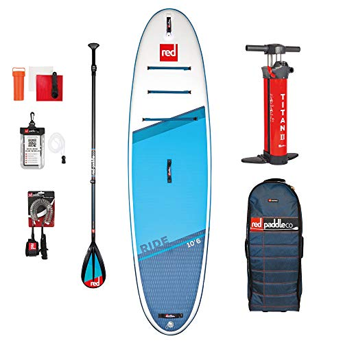 Red Paddle Unisex's 10'6″ RIDE MSL + CARBON 50 NYLON Table Sup and Paddle, Multicolor, Uni