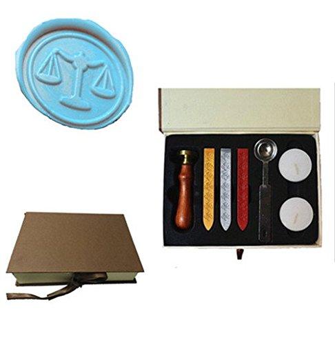 MDLG Vintage Weegschaal Balans Wet Aangepaste Foto Logo Bruiloft Uitnodiging Wax Seal Sealing Stamp Set Kit Box Kit