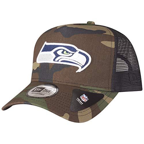 A NEW ERA Gorra Ajustable NFL Seattle Seahawks Camo Color Trucker Verde/Negro/Multi...