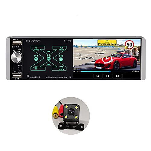 SCUMAXCON Autoradio singolo Din Bluetooth MirrorLink Smart Voice FM AM RDS SD USB AUX RVC SWC MP5 Player Autoradio Radio 4.1' Touch screen TFT