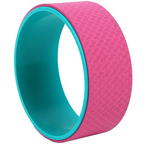 YzDnF Productos De Yoga Anti-Skid Pilates Pilates Dharma Prop Wheel TPE Yoga Rueda Adecuada para El Gimnasio para El Hogar Estirando y mejorando backbends (Color : Pink, Size : 13x33cm)
