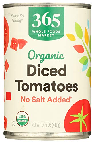 365 Everyday Value, Organic Diced Tomatoes, No Salt Added, 14.5 oz