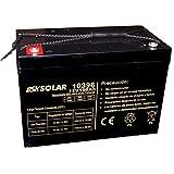 DSK Solar Batería Solar de GEL Ciclo Profundo 12V 100Ah Ideal...