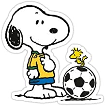 Snoopy Football - Sticker Graphic Bumper Window Sicker Decal - Doctor Who Dr Who Sticker