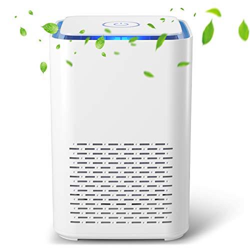 Nuaer Purificador de Aire Portátil con Filtro HEPA, USB Filtro de Aire de Escritorio, con Función de Aromaterapia, Luz Nocturna, para Elimina Polvo, Polen, Humo, Hogar y Oficina (SY-702)