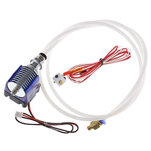 ENET - Boquilla de extrusión de filamento de 1,75 mm con Ventiladores de refrigeración y Tubo de alimentación para Impresora 3D