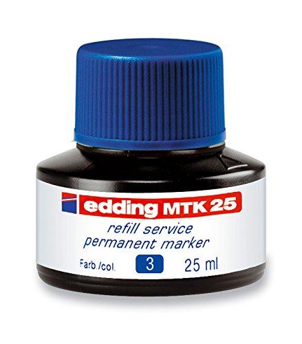 edding MTK25-003 - Frasco de tinta permanente de 25 ml, sistema capilar, color azul 🔥