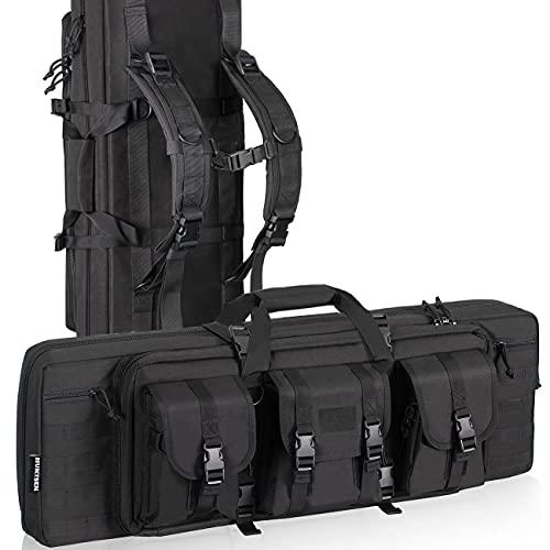 HUNTSEN Rifle Bag Soft Backpack Gun Case for Rifles and Handguns Tactical Rifle Bag Carrying Case for Hunting Shooting Range