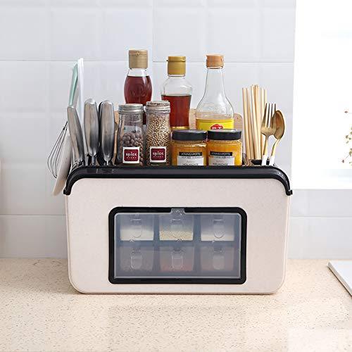BCXGS Küchen Gewürzhalter, Kreatives Gewürzregal, Arbeitsplatte Gewürz Organizer Moderner Stil Für Verschiedene Wohnkulturstile, 38.5x20x40cm