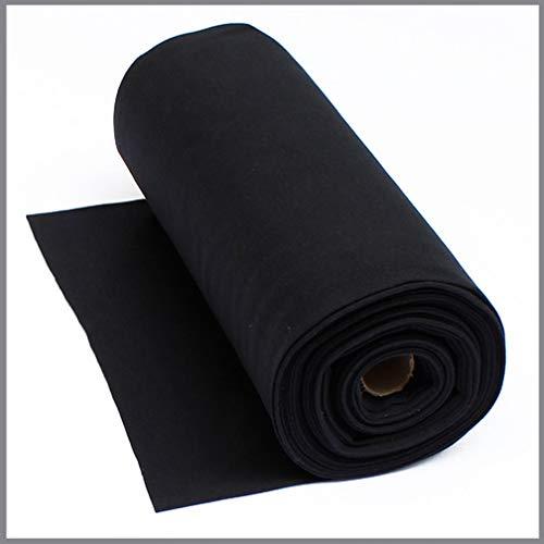 0,5 m Bündchenstoff schwarz * Schlauchware * Meterware * Bündchen