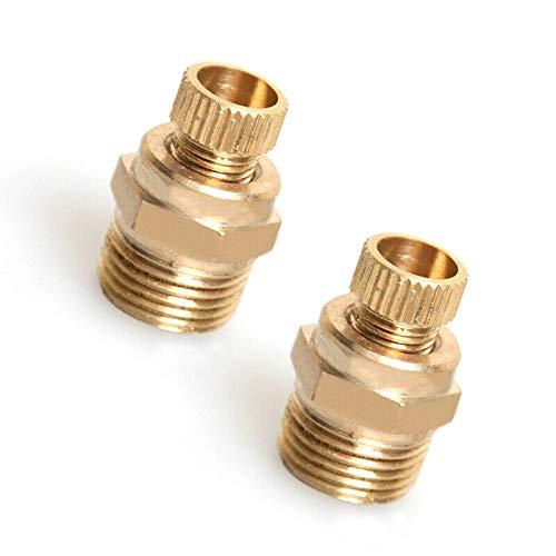 Vogueing Tool Ablaufventil, 2 Stück Kompressor-Ablassventil Messington Wasserablassventil für Luftkompressor PT(3/8 Zoll)