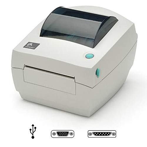 Zebra GC420d - Impresora de etiquetas (Color blanco, CODABAR (NW-7), Code 128 (A/B/C), Code 39, Code 93, EAN128, EAN13, EAN8, Industrial 2/5, Interleaved, 10 - 90%, 5 - 95%, Térmica directa / transferencia térmica, 203 x 203 DPI)