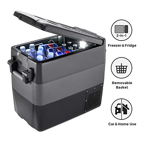 JoyTutus Portable RV Refrigerator Freezer 53 Quart(50L) RV Fridge (-4℉~50℉) Car Refridgerator Electric Compressor Car Cooler for Truck Driving, Boating, Camping, Road Travel and Home-12/24V DC