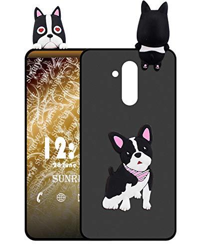 Sunrive Für Ulefone Power 3 / 3S Hülle Silikon, Handyhülle matt Schutzhülle Etui 3D Hülle Backcover für Ulefone Power 3 / 3S(W1 Hündchen) MEHRWEG+Gratis Universal Eingabestift