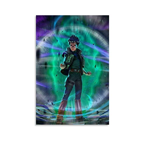Naruto Rock Lee 6th Gate Anime Poster - Poster Decorative Painting Canvas Wall Art Living Room Posters Bedroom Painting 20x30inch(50x75cm)