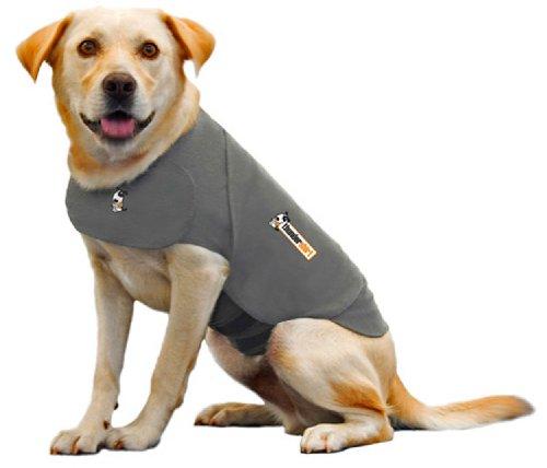 Thundershirt Beruhigungsweste, Hundemantel für ängstliche Hunde, Größe XS, grau, 99001