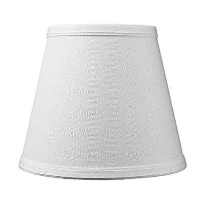 """5""""x8""""x7"""" Empire Light Oatmeal Linen Fabric Clip-On Lampshade, 