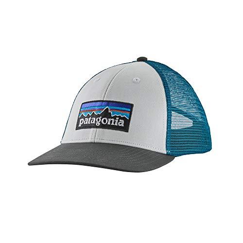 Patagonia P-6 Logo Lopro Trucker Hat Unisex Erwachsene Mütze Einheitsgröße Weiß/Grau (White w/Forge Grey)