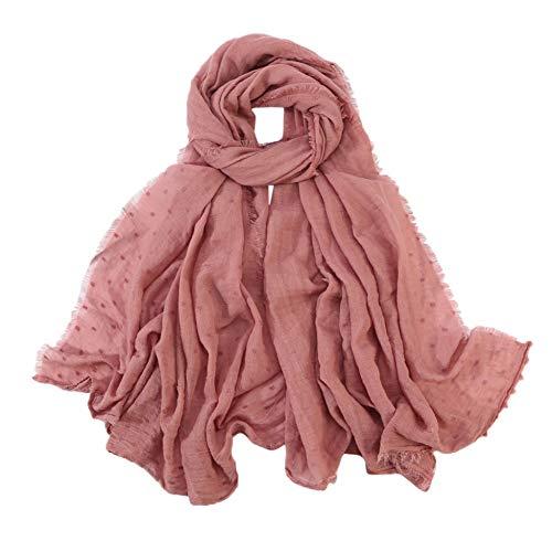 XINHUI herfst en winter dames effen mode katoen lange sjaal turban sjaal sjaal hoofdtooi zachte turban