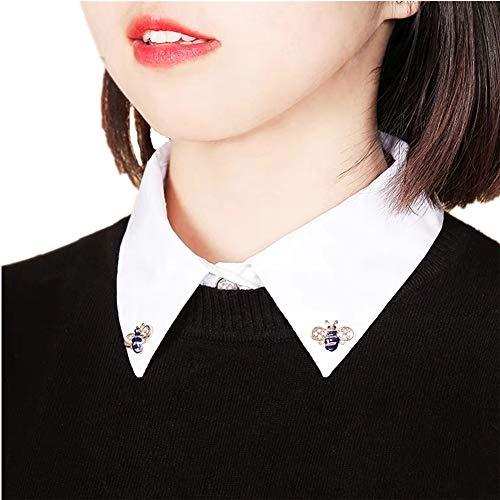 krageneinsatz damen Blusenkragen einsatz Fake Kragen abnehmbare Hälfte Shirt Bluse