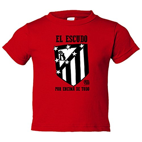 Camiseta niño Atlético de Madrid el escudo por encima de todo blanco y negro - Rojo, 12-14 años