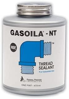 Gasoila Blue Non-Teflon Non-PTFE Pipe Thread Sealant, -50 to 400 Degree F, 1 Pint Brush