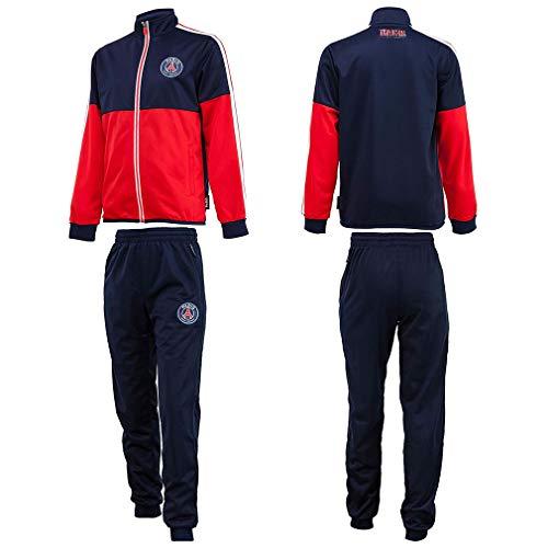 PSG Kinder Trainingsanzug Paris Saint-Germain, Blau/Rot, blau, 14 Years