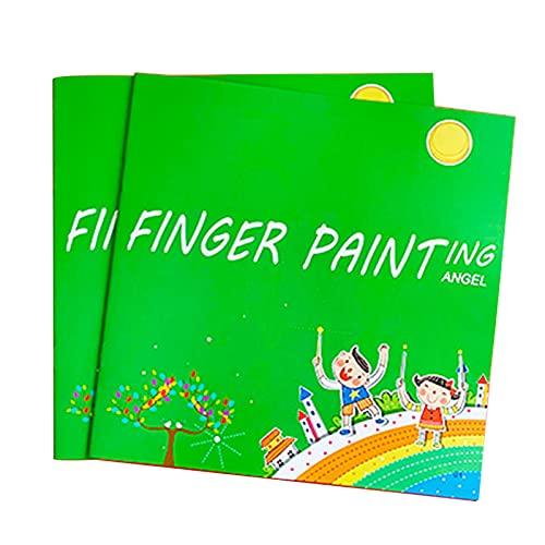 ASDFK Kit de peinture au doigt amusant - Lavable - Pour enfants - Avec livre de coloriage - Jouet éducatif - Pour bricolage et anniversaire