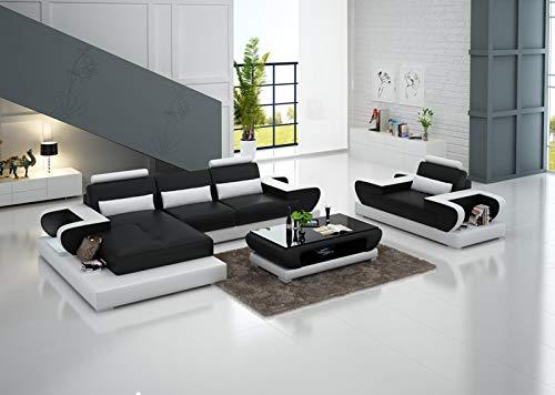 JVmoebel Design XXL Big Sofa Ecksofa Ledersofa Couch Polster Ecke Wohnlandschaft G8003E