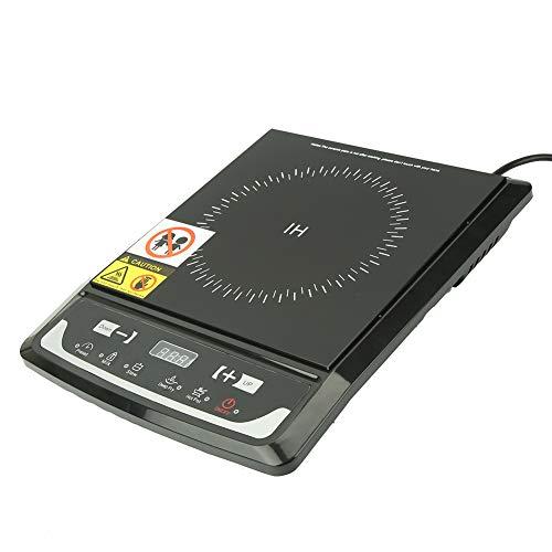 Elektrisk induktionskokare, 2000W elektrisk induktionsplattokok med justerbar temperatur för hemanvändning, 220V UK Black